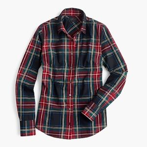 J Crew Perfect Shirt in Stewart plaid, size 8